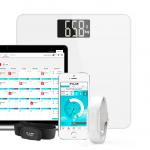 食事の記入不要!フィットネスバンドと連携して自動でカロリー管理できるスマート体重計「Polar Balance」